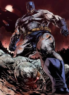The Dark Knight Returns by Daniel Morales Olvera Batman beats the Mutants Leader Batman Dark, I Am Batman, Batman The Dark Knight, Batman Vs Superman, Batman Stuff, Marvel Vs, Comic Book Characters, Comic Character, Comic Books