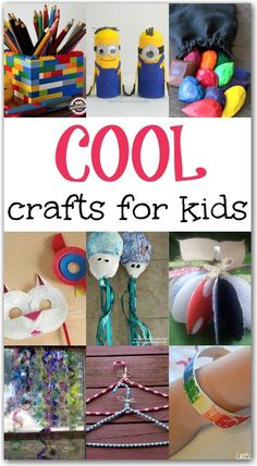 10+ cool crafts for kids. Fun and creative ideas to make with your children that you will both love!