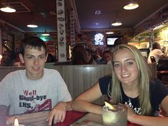 Wyatt Whewell and Hannah Holmes at Wintzell's Oyster House in Mobile, AL on June 21, 2013 - taking a break from the National Beta Convention