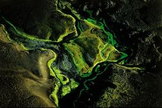Yann Arthus Bertrand, river near Maelifellssandur, Myrdalsjökull, Islande