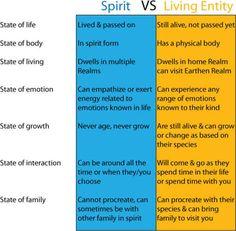 Spirits vs Living Entities