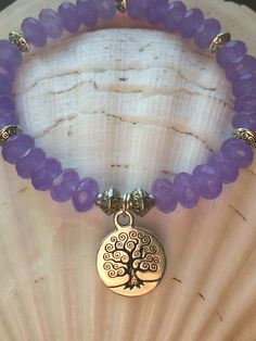 Purple Jade Tree of Life Stretch Bracelet by HumbleMySoul on Etsy https://www.etsy.com/listing/257551640/purple-jade-tree-of-life-stretch