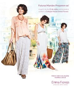 PREVIEW - Coleção Verão 2013 Emma Fiorezi  Moda Gestante