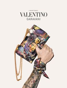 Valentino Garavani Accessories Fall 2014 butterfly print bag - we love the bright patterns and colours - the sneakers are very cool too...x