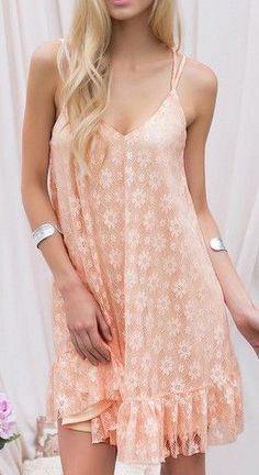 pink lace slip dress
