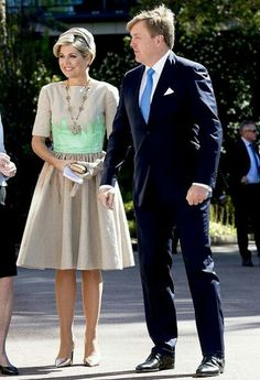 Dutch Royal Couple's five days state visit to Australia started. On the first day of the visit, King Willem-Alexander and Queen Maxima of The Netherlands visits the Shipwreck Galleries on October 31, 2016 in Fremantle, Australia. Queen Maxima wore Mattijs van Bergen Dress.