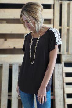 Chocolate Vera Crochet Top | The ZigZag Stripe
