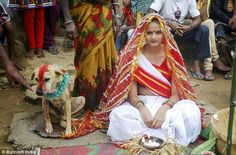 NEWS ALERT: TEENAGE GIRL MARRIES A DOG IN INDIA.
