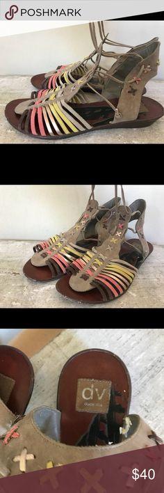 DV by Dolce Vita lace up Huarache sandals DV by Dolce Vita lace up suede huarache sandals in dusty sunset color. DV by Dolce Vita Shoes Sandals