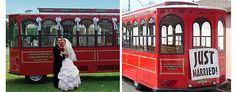 Long Branch Trolley Co.: Available in Monmouth & Ocean Counties. Long Branch, NJ. More info: http://www.njwedding.com/vendorDisplay.cfm?vendorid=9873  #JerseyShore #Weddings #WeddingTrolley #WeddingTrolleys #Trolleys #NJBeach #Transportation