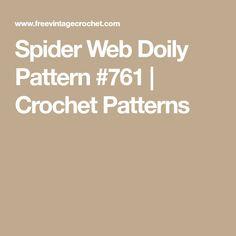 Spider Web Doily Pattern #761 | Crochet Patterns