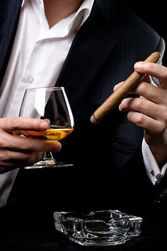 Real Men drink straight up with a side of Cigar..
