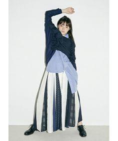 「2018春夏 panel patchwork skirt」