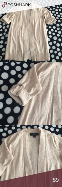 Cardigan Cream colored cardigan. Sleeve length a little above the elbows. Mossimo Supply Co Sweaters Cardigans