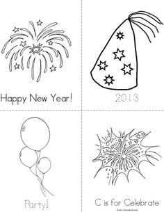 Happy New Year Mini Book