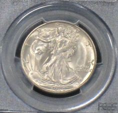 1946 S MS 65+ Gem Brilliant PCGS Certified Walking Liberty Silver Half Dollar