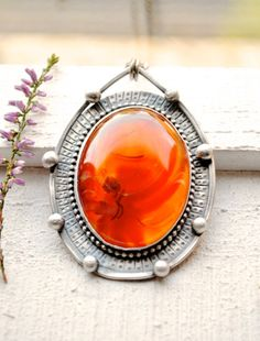 Red Agate Necklace, Silver Pendant, Stone, Fall Jewelry, October Finds…