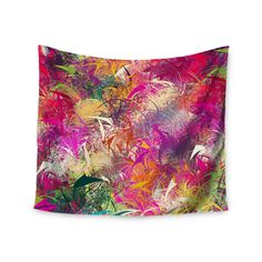 Kess InHouse Danny Ivan 'Splash' Rainbow Abstract 51x60-inch Tapestry (Splash), White (Polyester)