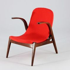 Red Mid-Century Armchair