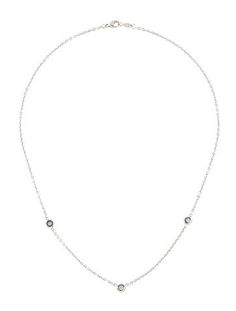 18K Diamond Embellished Chain Necklace