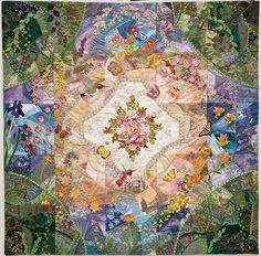 """""""Crazy in the Garden"""" quilt by Allie Aller"""