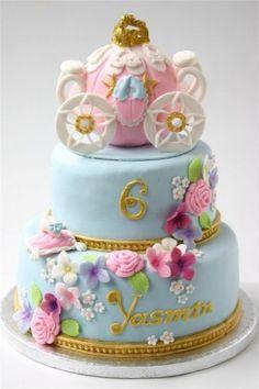 Cinderella Birthday Coach Cake