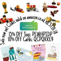 Christmas done it's time for the #sales to begin  Here's ours. Codes valid on amazon.co.uk till 31.01.2018 search for ethicological. #ethical #ecofriendly #handmade #sustainable #woodentoys #nonasties #nontoxic #greetingcards #boxingdaysale #kindgoods #buysocial #shoponline #shopethical  www.ethicological.com