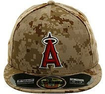 b5df28bfe64 New Era Authentic Collection 5950 Los Angeles Angels 2013 Memorial Day Hat  - Camo.  37.99