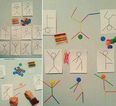 with ・・・ Şablona bakarak sayı çubu. - My Pin Montessori Activities, Motor Activities, Kindergarten Activities, Educational Activities, Activities For Kids, Crafts For Kids, Teaching Kids, Kids Learning, Learning Centers