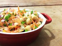 Garfo Publicitário | Blog de Gastronomia e Culinária: Salada de Grão de Bico e Legumes