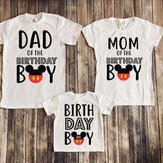 Mickey mouse birthday shirt, Mickey birthday shirt, disney matching, disney family vacation, matching mickey, mickey mouse party by JADEandPAIIGE on Etsy https://www.etsy.com/listing/594782088/mickey-mouse-birthday-shirt-mickey