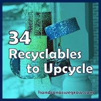 34 Recycled Kids Crafts & Activities - hands on : as we grow 34 Recyclables to Upcycle for the Kids - reuse stuff that's already in the recycling bin for activities, crafts and art projects! Upcycled Crafts, Recycled Art, Repurposed, Recycled Tires, Recycled Furniture, Handmade Furniture, Fun Crafts, Crafts For Kids, Reduce Reuse Recycle
