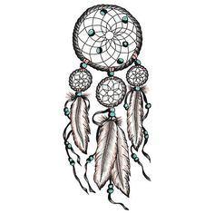 Large Dream Catcher Calyn Temporary Tattoo by CarlsbadTradingPost