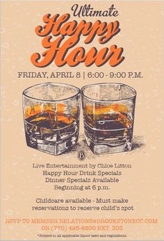 Happy Hour event flyer poster template