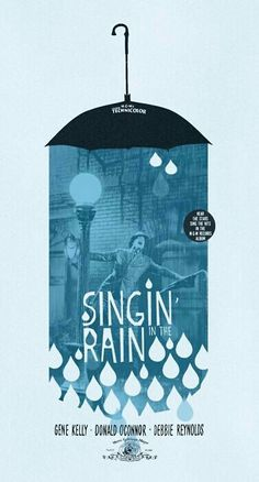 Singing' in the Rain poster- graphic design inspiration. Love the limited colors, use of the raindrop shape, and mix of photo/illustration. Layout Design, Design Art, Print Design, Web Design, Time Design, Banner Design, Design Trends, Dm Poster, Foto Poster
