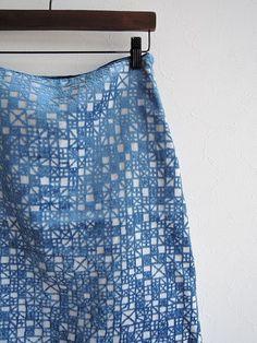 ミナペルホネン mina perhonen meri リネン台形スカート