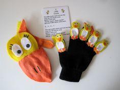 Five little ducks glove puppets