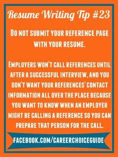 resume writing quick tip do not submit your reference page with your resume cv