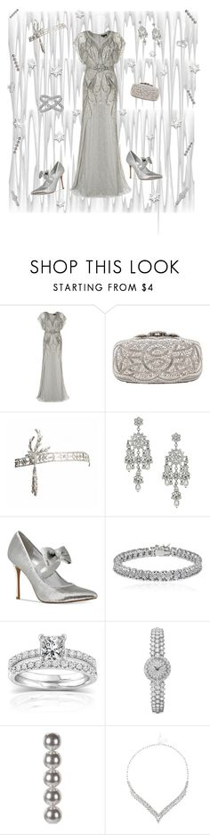 """""""icy icy winter"""" by valorierose ❤ liked on Polyvore featuring Jenny Packham, Oscar de la Renta, Miss Selfridge, Michael Kors, Apples & Figs, Annello and Jon Richard"""
