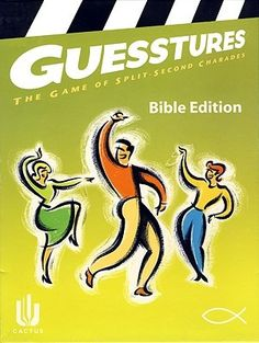 """[""""Guesstures<\/i>, the favorite family game of split second charades is now available in a Bible edition. Act out a word from the Bible for your teammates in just a few short seconds - before the timer makes your word card disappear! Your family and friends will put on the best show possible to score points by guessing correctly.Product Details:<\/b>Ages: 12 & upPlayers: 4 or morePlay Time: 30 minutes""""] $29.99"""