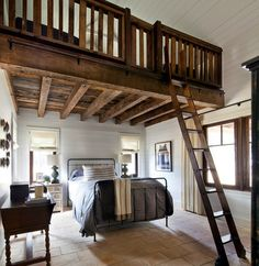 1000 images about rustic bedroom on pinterest rustic bedrooms bedrooms and beams - Mezzanine bedlamp ...