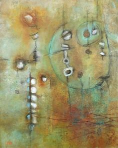 """SOLD 'Reclaimed Elements' by Leah Fitts 30""""x24""""x1.5"""" Acrylic and charcoal on gallery wrapped canvas http://www.leahfitts.com"""