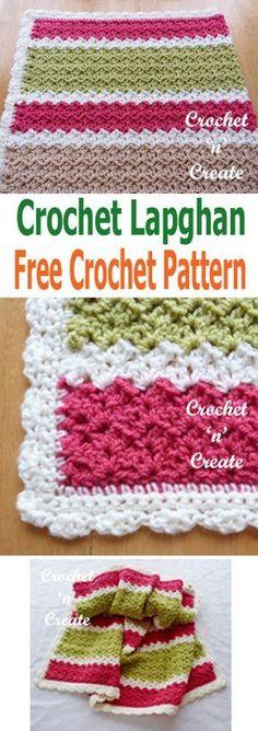A free crochet lapghan pattern, great to keep legs warm when watching TV etc. It is also ideal for wheelchair users. #crochetncreate #crochet #crochetafghan