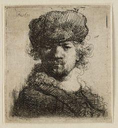 Rembrandt, zelfportret (B 16)