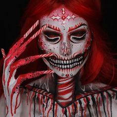 Love it @lisamarie_murphy  __________________________________ Sharing all halloween makeup|SFX| Favorite creepy stuff my own work | Others credit will be given to rightful owners Please let me know if you would like your work taken down . . . . . #makeup #makeupartist #hudabeauty #vegas_nay #wakeupandmakeup #amrezy #morphebrushes  #anastasiabeverlyhills #katvondbeauty #peachyqueenblog #ourfazinali #katvondbeauty #brian_champagne #undiscovered_muas #makeupart #halloween #halloweenmakeup…