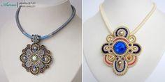 Ожерелья Aurus Jadwiga Soutache Pendant, Pendant Necklace, Brooch, Jewelry, The Creation, Jewlery, Jewerly, Brooches, Schmuck