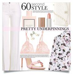 """Prettiest Underpinnings"" by mistressofdarkness ❤ liked on Polyvore featuring Equipment, Roberto Cavalli, La Perla, Gucci, Alexandre Birman, Chanel and Marc Jacobs"