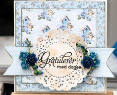 Papers, flowers,stamps and 3D dots from Papirdesign