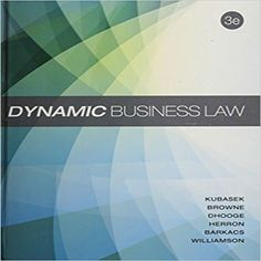 Any tamata tamata89 on pinterest solution manual for dynamic business law 3rd edition by kubasek browne barkacs herron williamson and fandeluxe Choice Image