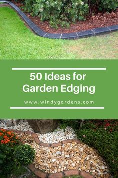 Lawn edges add easy definition to your yard, they provide the finishing touches to gardens, lawns, and pathways, with minimal effort and cost from you – kind of like the bow tie on top of the tuxedo! Here are some ideas! Lawn Edging, Garden Edging, Easy Garden, Lawn And Garden, Garden Ideas, Garden Tools, Landscaping Around Deck, Garden Landscaping, Landscaping Ideas